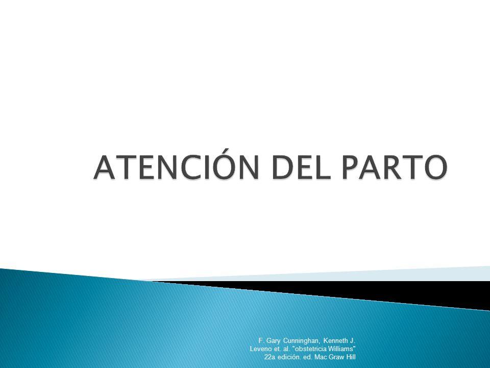 POSICIÓN DEL CUELLO UTERINO: La ubicación del orificio cervical con respecto a la cabeza fetal se designa como: Posterior Intermedia anterior F.