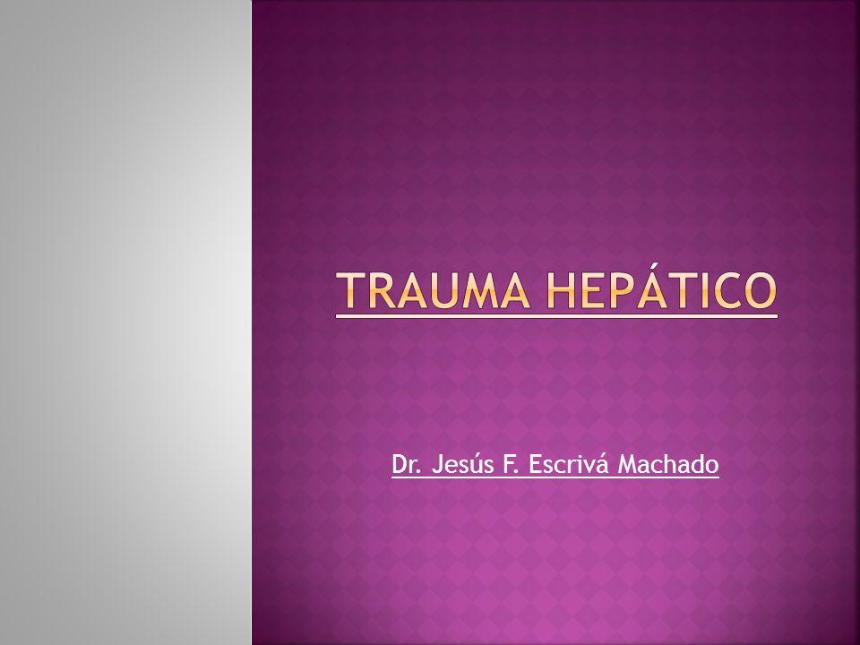 Órgano más lesionado en traumatismo abdominal (15% - 40%) Mortalidad: 8 a 10 % Lesiones asociadas > 3: 24 % Morbilidad: 18 a 30 % Piper GL - Surg Clin North Am - 01-AUG-2010; 90(4): 775-85 Sabiston.