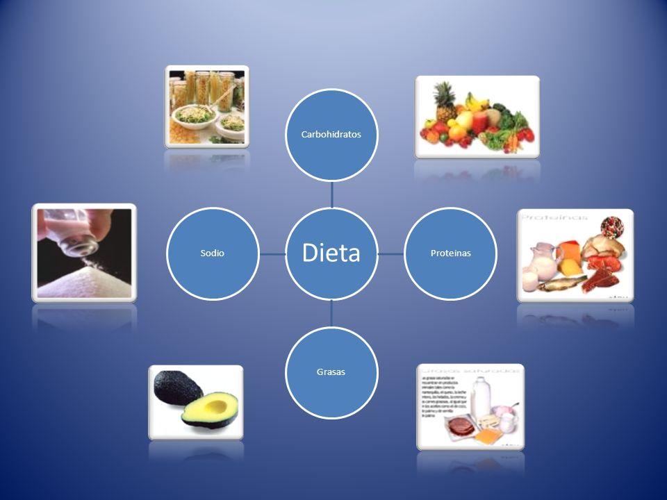 Dieta CarbohidratosProteinasGrasasSodio