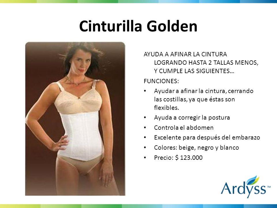 Cinturilla Golden AYUDA A AFINAR LA CINTURA LOGRANDO HASTA 2 TALLAS MENOS, Y CUMPLE LAS SIGUIENTES… FUNCIONES: Ayudar a afinar la cintura, cerrando la