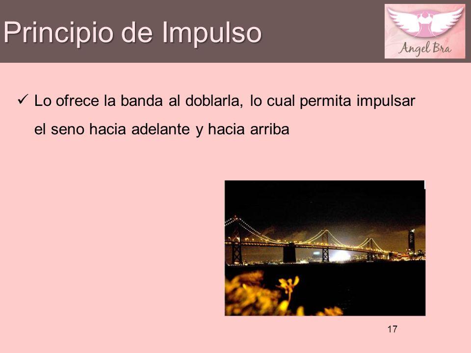Principio de Impulso 17 Lo ofrece la banda al doblarla, lo cual permita impulsar el seno hacia adelante y hacia arriba