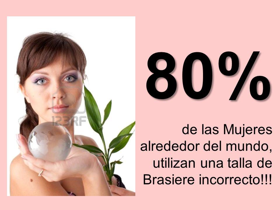 de las Mujeres alrededor del mundo, utilizan una talla de Brasiere incorrecto!!! 80%