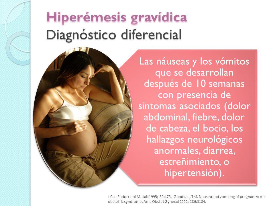 Hemólisis, pruebas de función hepática elevadas, trombocitopenia Hígado graso del embarazo El inicio se produce normalmente en la segunda mitad del embarazo.