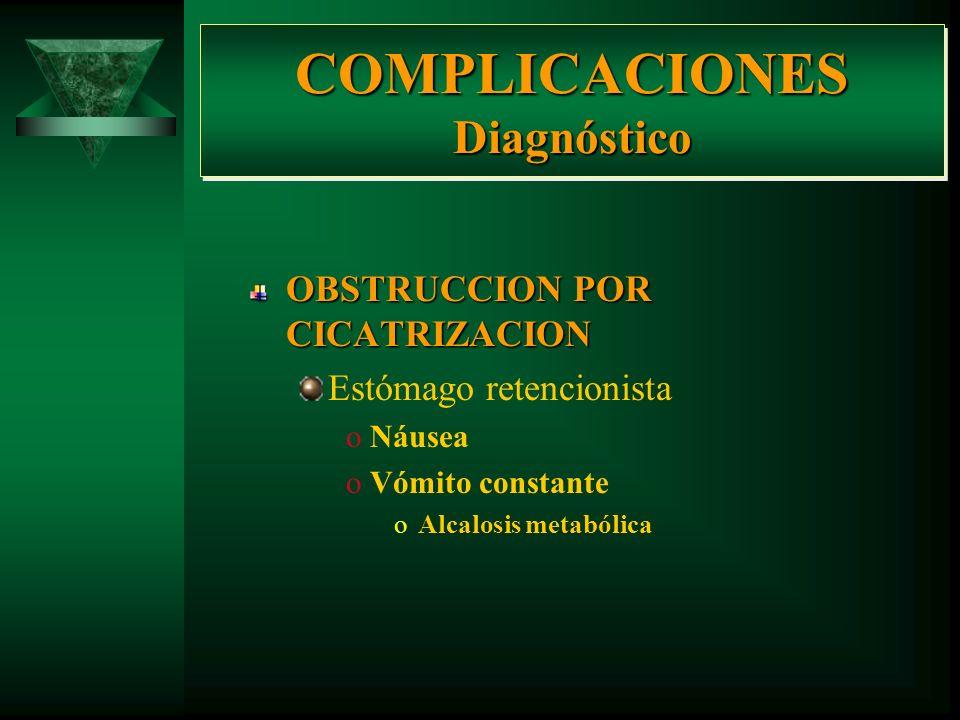 COMPLICACIONES Diagnóstico (Exploración Física) HEMORRAGIA oPalidez de tegumentos oPalidez de mucosas oTaquicardia oHipotensión