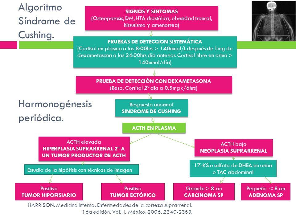 SIGNOS Y SINTOMAS (Osteoporosis, DM, HTA diastólica, obesidad troncal, hirsutismo y amenorrea) SIGNOS Y SINTOMAS (Osteoporosis, DM, HTA diastólica, ob