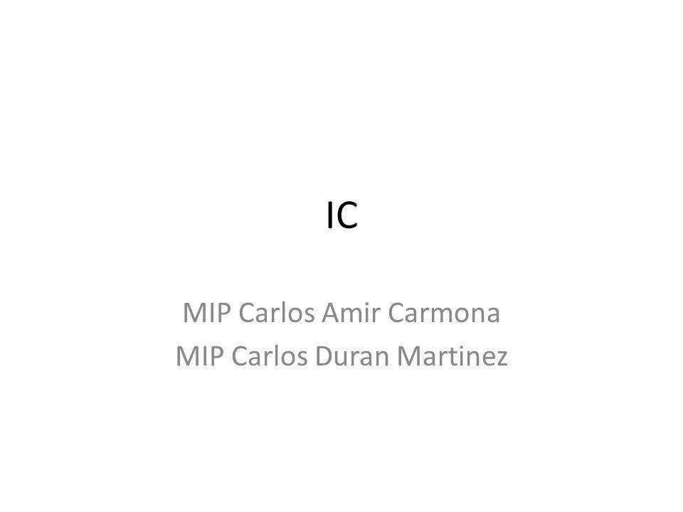 IC MIP Carlos Amir Carmona MIP Carlos Duran Martinez