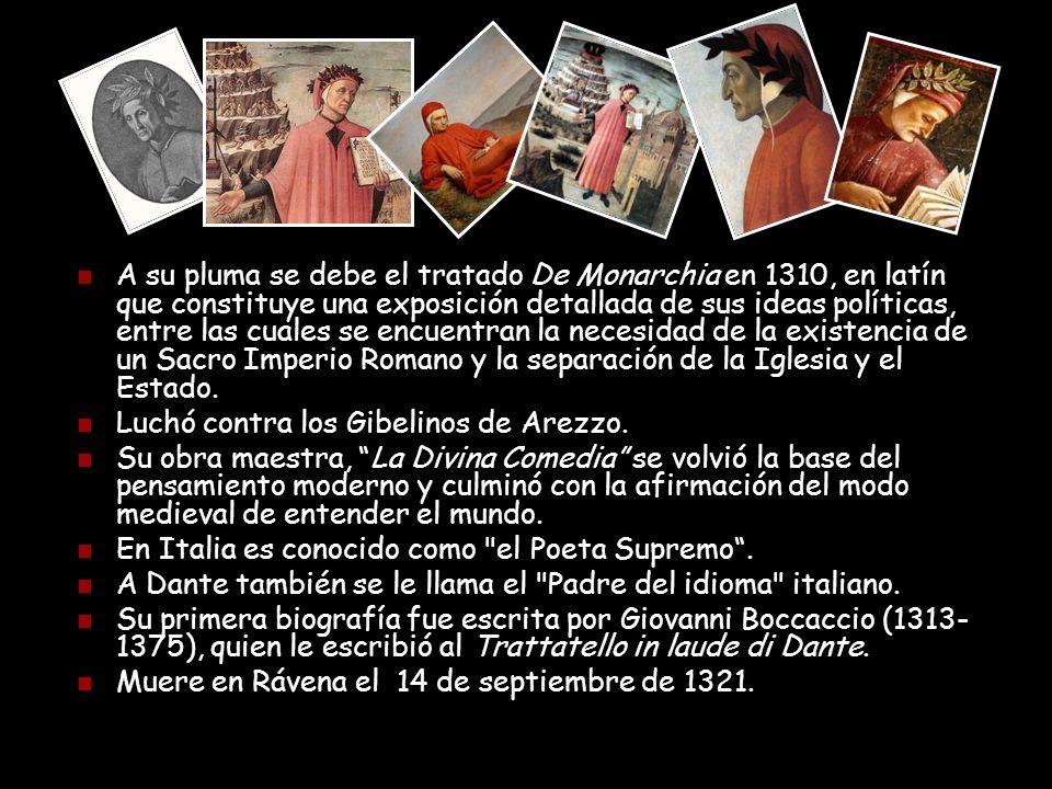 Personajes Principales: Dante (el hombre) Beatriz (la fe) Virgilio (la razón) Bestias del Infierno.