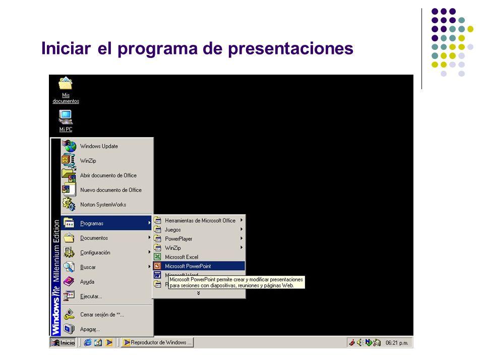 Iniciar el programa de presentaciones