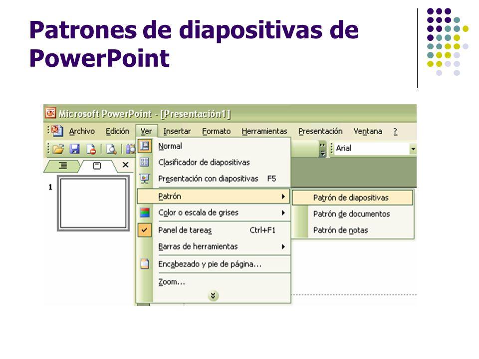Patrones de diapositivas de PowerPoint