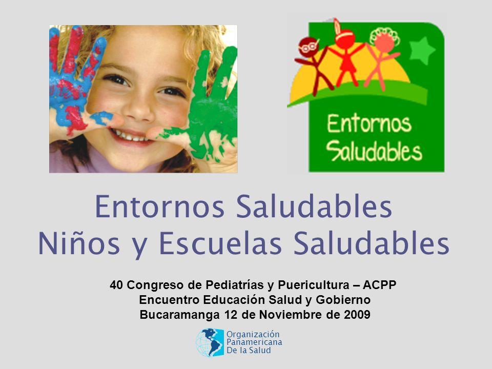 Entornos Saludables Niños y Escuelas Saludables Organización Panamericana De la Salud 40 Congreso de Pediatrías y Puericultura – ACPP Encuentro Educac