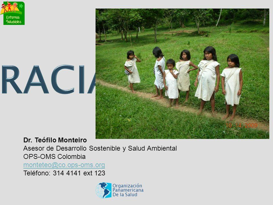 Organización Panamericana De la Salud Dr. Teófilo Monteiro Asesor de Desarrollo Sostenible y Salud Ambiental OPS-OMS Colombia monteteo@co.ops-oms.org