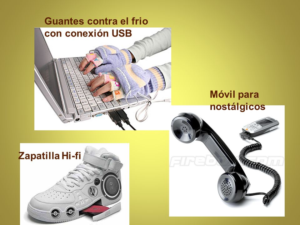 Guantes contra el frio con conexión USB Zapatilla Hi-fi Móvil para nostálgicos