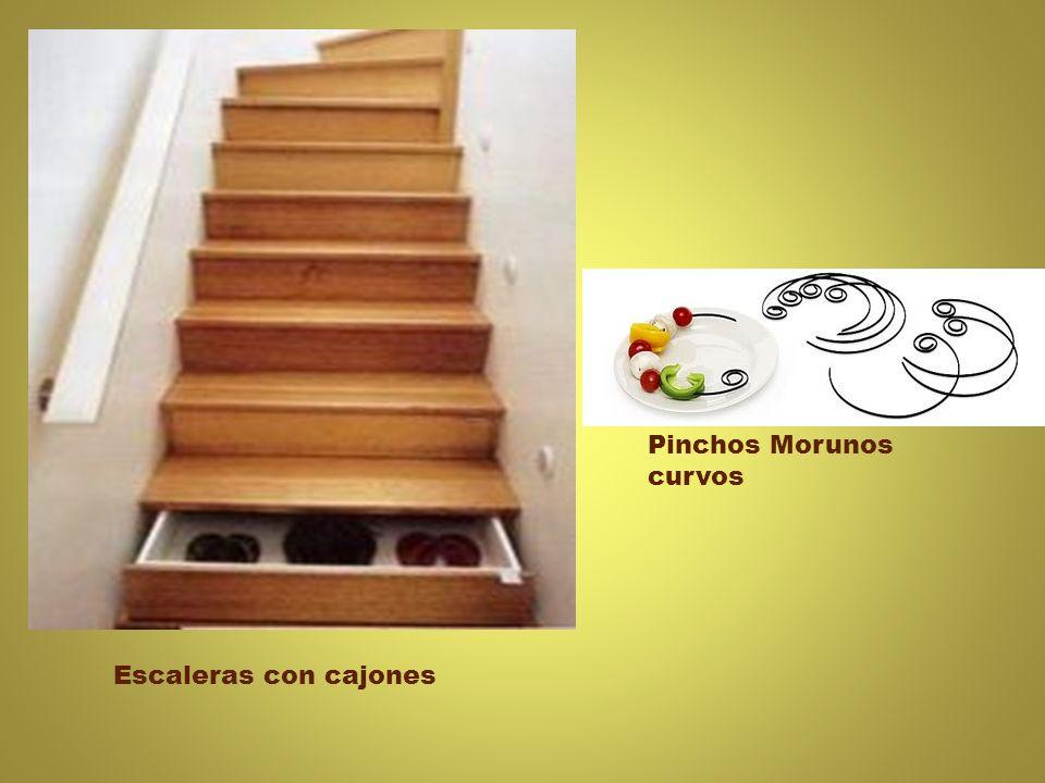 Escaleras con cajones Pinchos Morunos curvos
