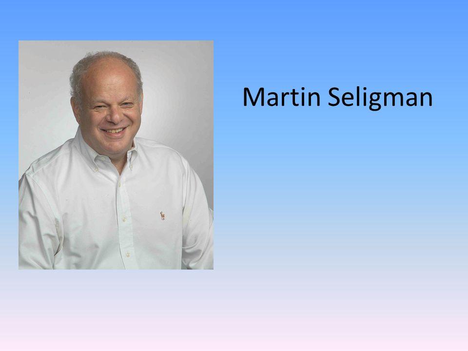 Martin E.P.Seligman es un psicólogo y escritor norteamericano.