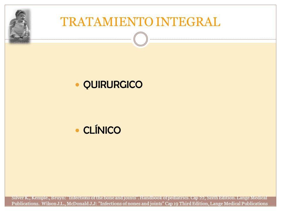 TRATAMIENTO INTEGRAL QUIRURGICO CLÍNICO Silver K., Kemple., Bruyn: