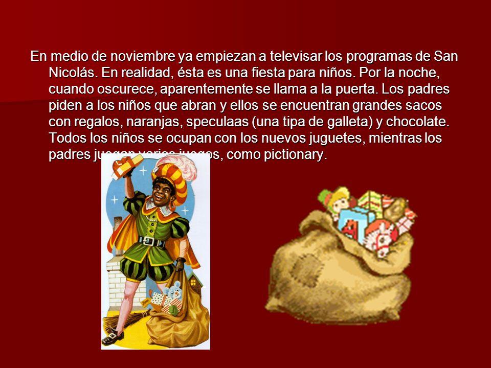 En medio de noviembre ya empiezan a televisar los programas de San Nicolás.