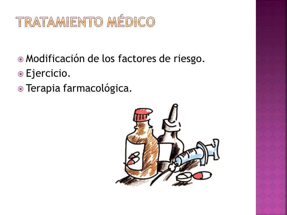 Modificación de los factores de riesgo. Ejercicio. Terapia farmacológica.