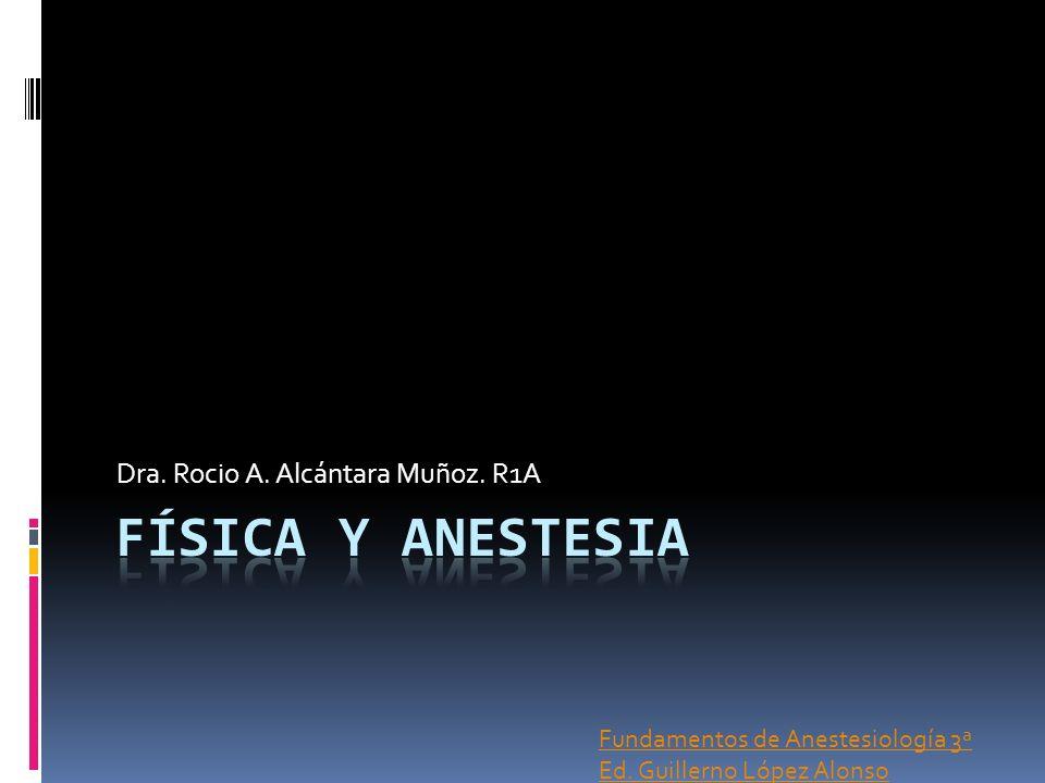 Dra. Rocio A. Alcántara Muñoz. R1A Fundamentos de Anestesiología 3ª Ed. Guillerno López Alonso