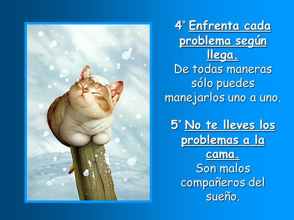 6° No tomes prestado los problemas de los demás. Ellos pueden manejarlos mejor que tú.