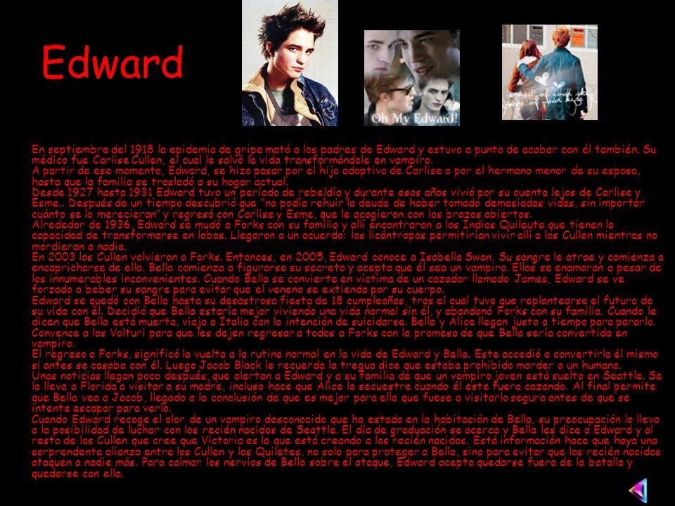 Edward En septiembre del 1918 la epidemia de gripe mató a los padres de Edward y estuvo a punto de acabar con él también.