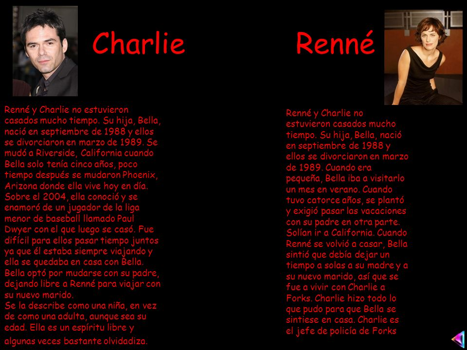 Charlie Renné Renné y Charlie no estuvieron casados mucho tiempo.