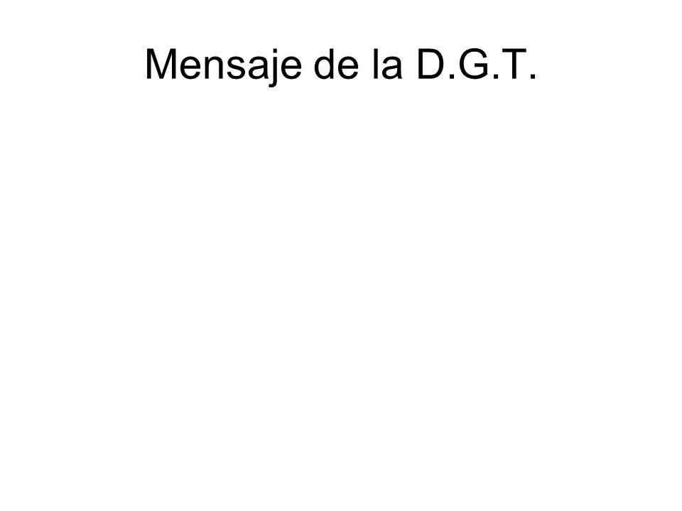 Mensaje de la D.G.T.