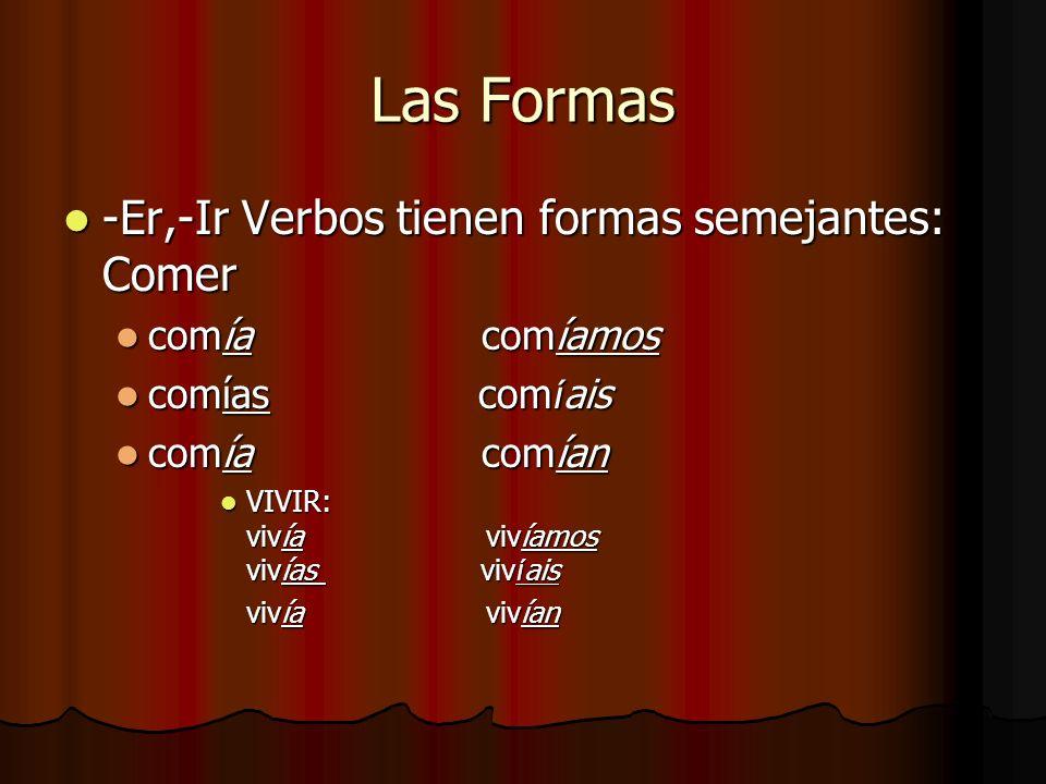 Y LO MEJOR DE TODO ¡Sólo hay 3 verbos que son irregulares en el imperfecto.