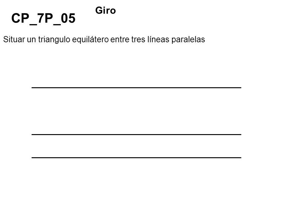 Situar un triangulo equilátero entre tres líneas paralelas CP_7P_05 Giro