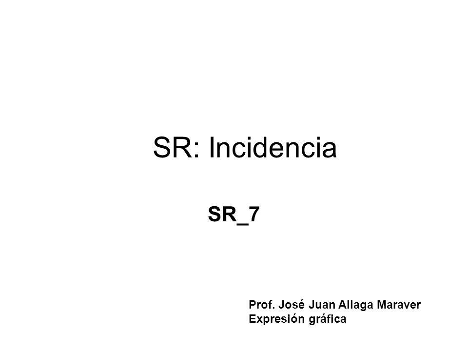 SR: Incidencia SR_7 Prof. José Juan Aliaga Maraver Expresión gráfica