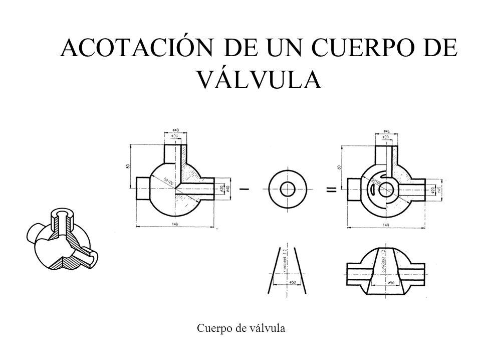 Cuerpo de válvula ACOTACIÓN DE UN CUERPO DE VÁLVULA