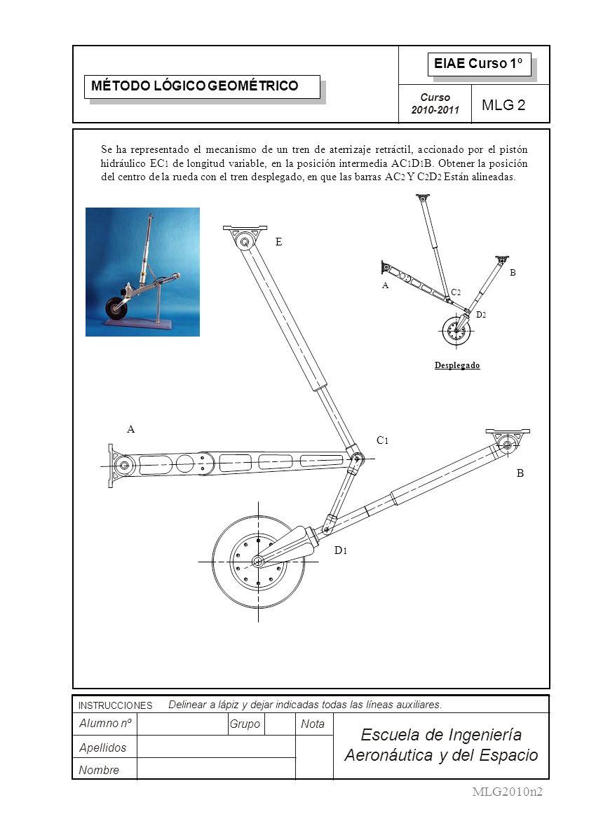 Curso 2010-2011 INSTRUCCIONES Delinear a lápiz y dejar indicadas todas las líneas auxiliares.