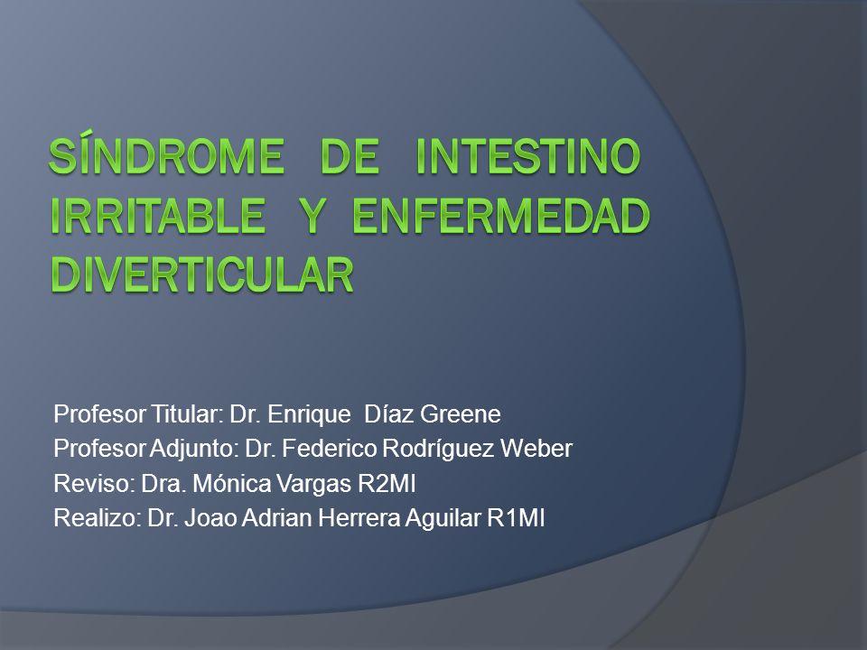 Tratamiento R Spiller, Q Aziz, F Creed, A Emmanuel, L Houghton, P Hungin, R Jones, D Kumar, G Rubin, N Trudgill, P Whorwell.
