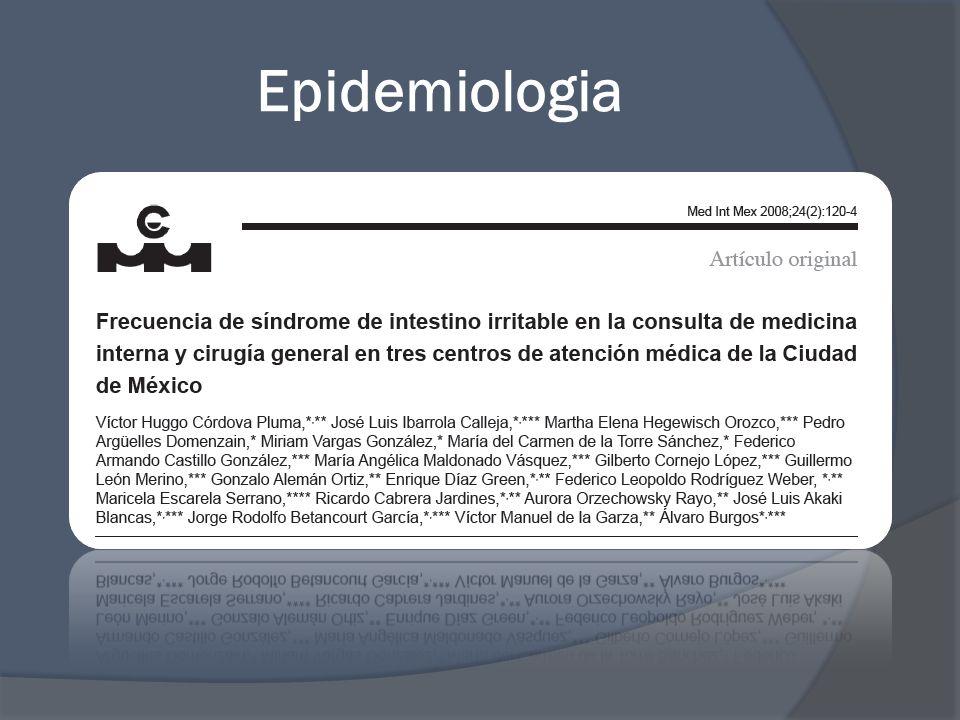 Etiología Dieta baja en fibra Obesidad Sedentarismo No hay evidencia de riesgo asociado a consumo de alcohol, cafeína o fumar.