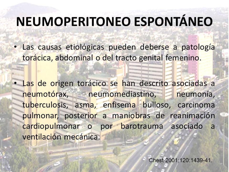Las causas etiológicas pueden deberse a patología torácica, abdominal o del tracto genital femenino. Las de origen torácico se han descrito asociadas
