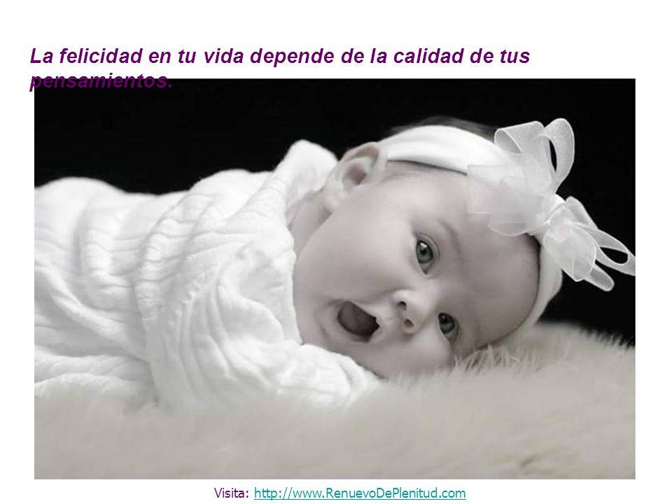 La felicidad en tu vida depende de la calidad de tus pensamientos. Visita: http://www.RenuevoDePlenitud.comhttp://www.RenuevoDePlenitud.com