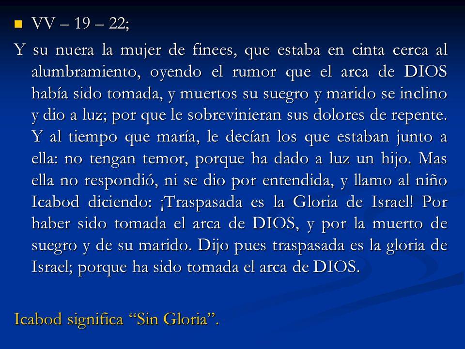 III.¿Que debemos hacer para que la gloria vuelva.