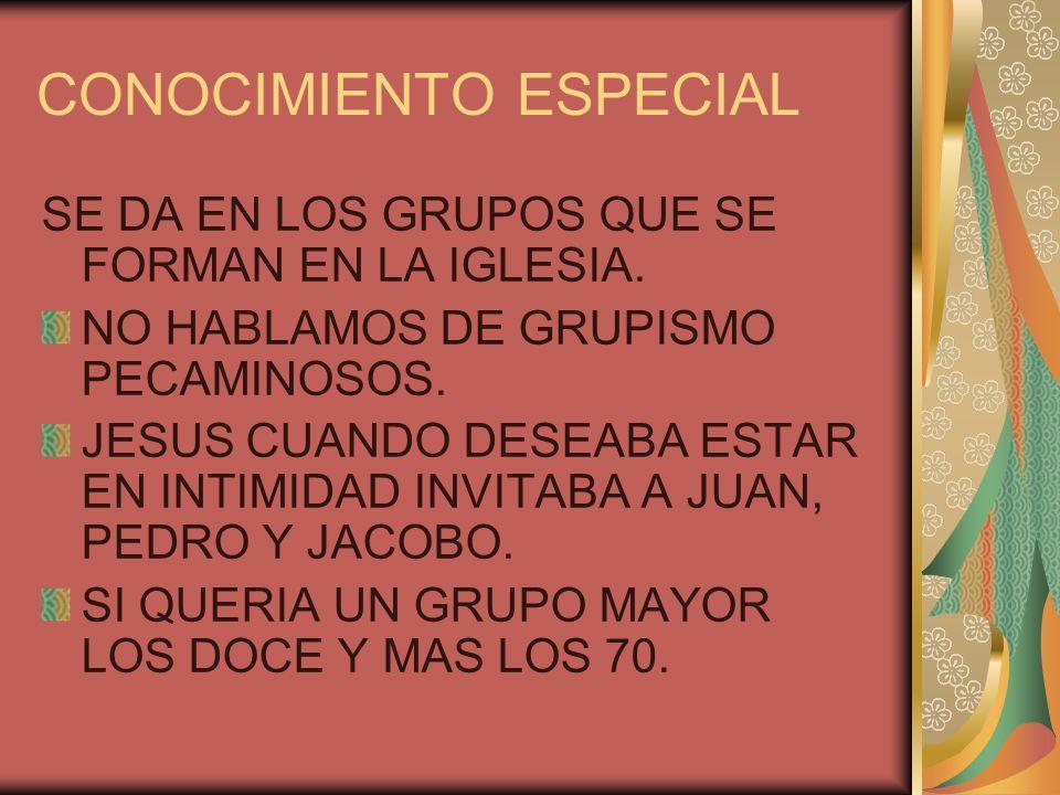 CONOCIMIENTO ESPECIFICO EN EL GRUPO ESPECIAL HAY UNA PERSONA QUE TE INTERESA CON LA CUAL TU INICIAS UNA CONVERSACION MAS PRIVADA,SALEN JUNTOS,JUEGAN,ETC.