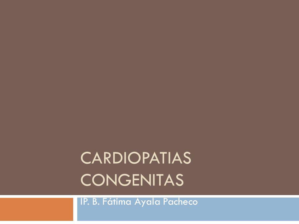 CARDIOPATIAS CONGENITAS IP. B. Fátima Ayala Pacheco