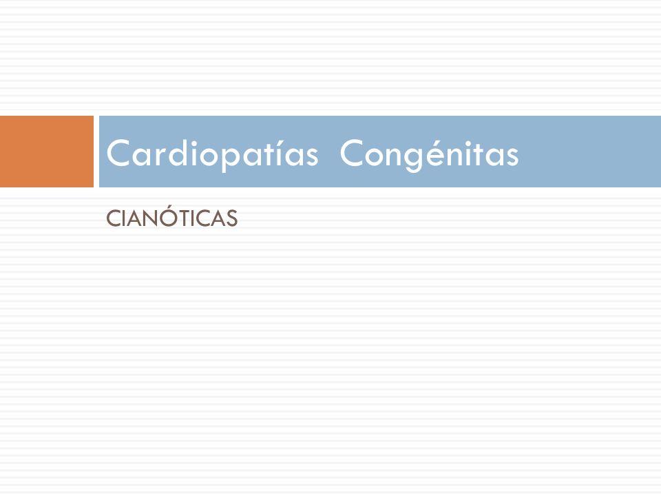CIANÓTICAS Cardiopatías Congénitas