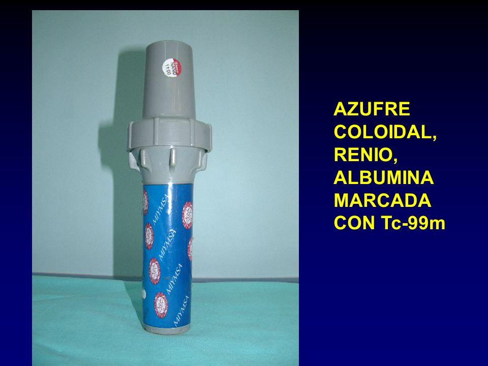 AZUFRE COLOIDAL, RENIO, ALBUMINA MARCADA CON Tc-99m