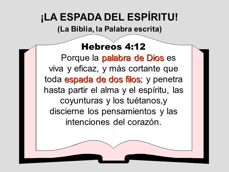 Hebreos 4:12 palabra de Dios espada de dos filos Porque la palabra de Dios es viva y eficaz, y más cortante que toda espada de dos filos; y penetra ha