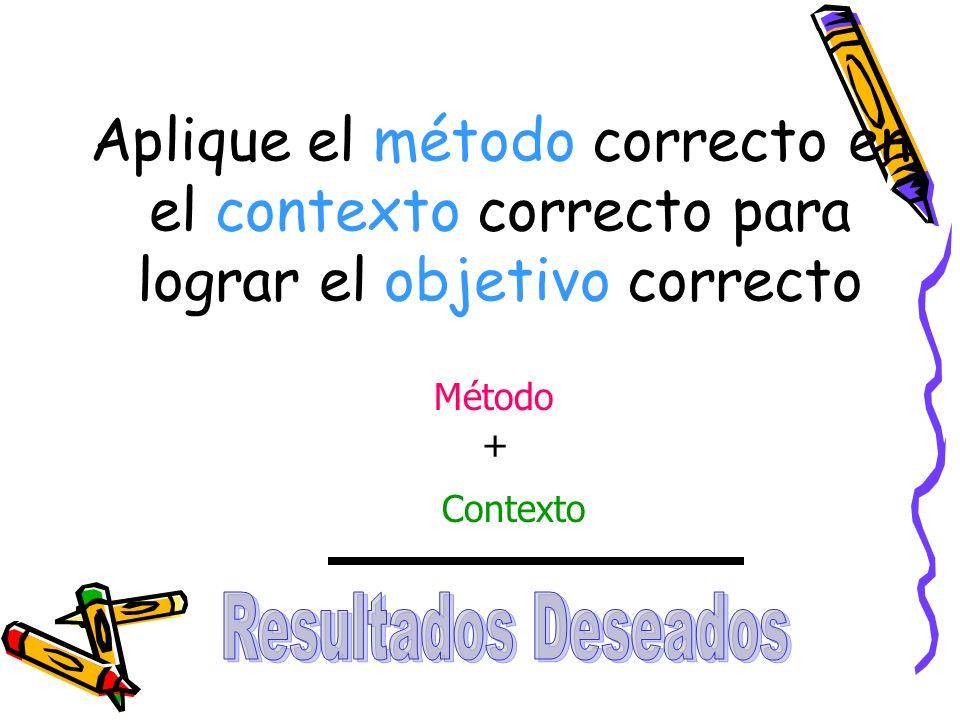 Métodos y contextos que se utilizan para lograr los objetivos Educación Formal ESCUELAS Educación No Formal EL TRABAJO Educación Informal LA COMUNIDAD