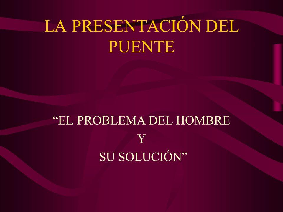 LA PRESENTACIÓN DEL PUENTE EL PROBLEMA DEL HOMBRE Y SU SOLUCIÓN