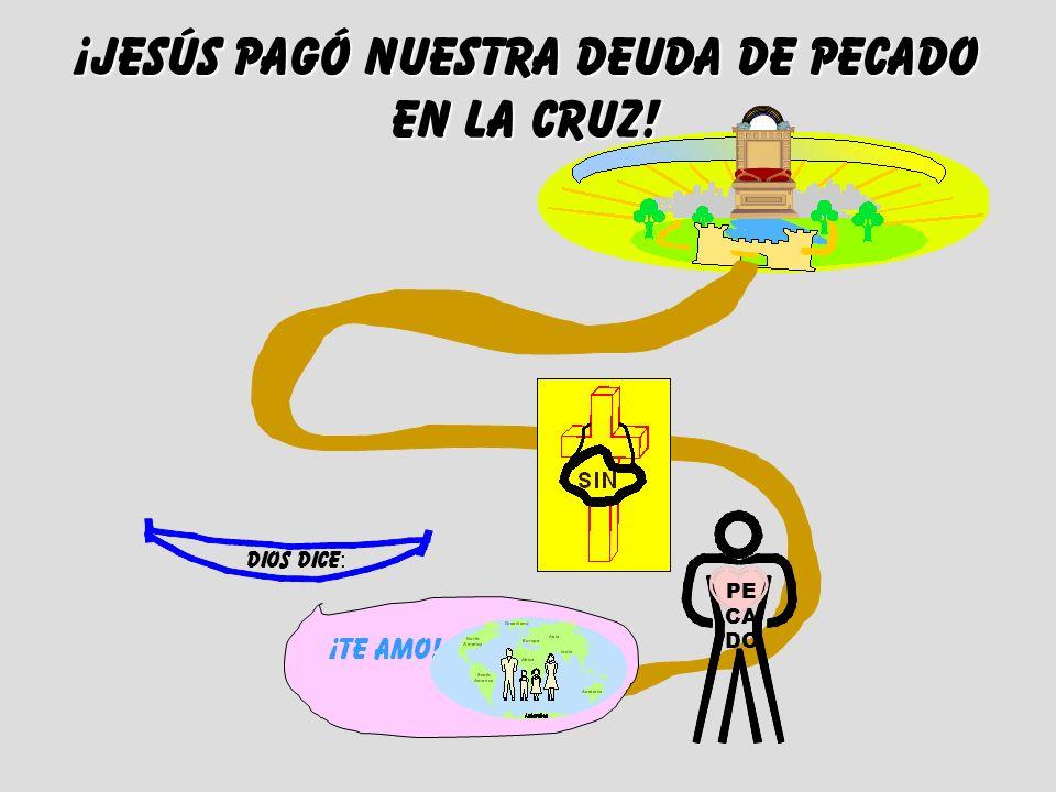 dios dice : ¡te AMO! ¡JESÚS Pagó nuestra deuda de pecado en la cruz! PE CA DO