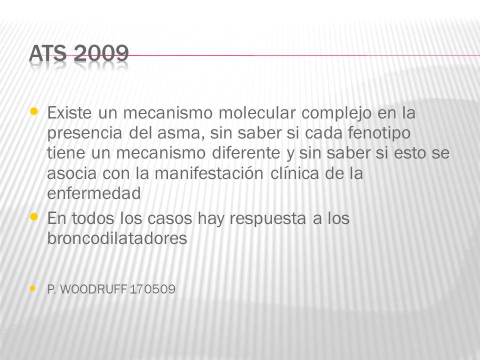 Existe un mecanismo molecular complejo en la presencia del asma, sin saber si cada fenotipo tiene un mecanismo diferente y sin saber si esto se asocia