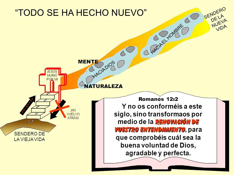 TODO SE HA HECHO NUEVO JESÚS MURIÓ POR MI SENDERO DE LA VIEJA VIDA SENDERO DE LA NUEVA VIDA UNCAMINOUNCAMINOUNCAMINOUNCAMINO ¡NO VUELVO ATRÁS! NATURAL