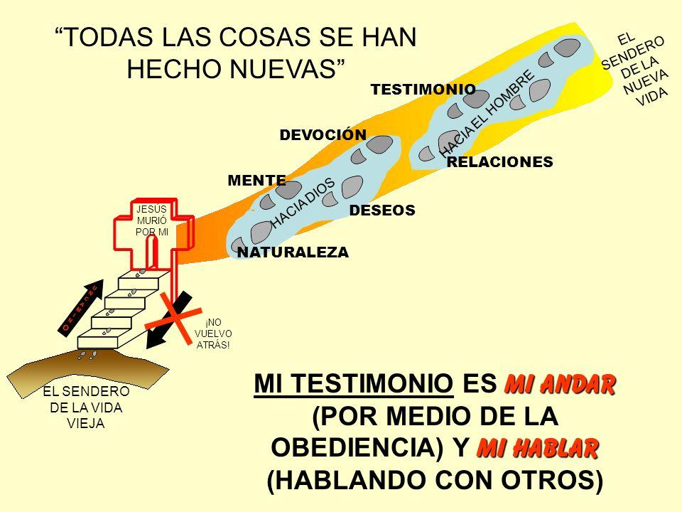 TODAS LAS COSAS SE HAN HECHO NUEVAS JESÚS MURIÓ POR MI EL SENDERO DE LA VIDA VIEJA EL SENDERO DE LA NUEVA VIDA UNCAMINOUNCAMINOUNCAMINOUNCAMINO ¡NO VU