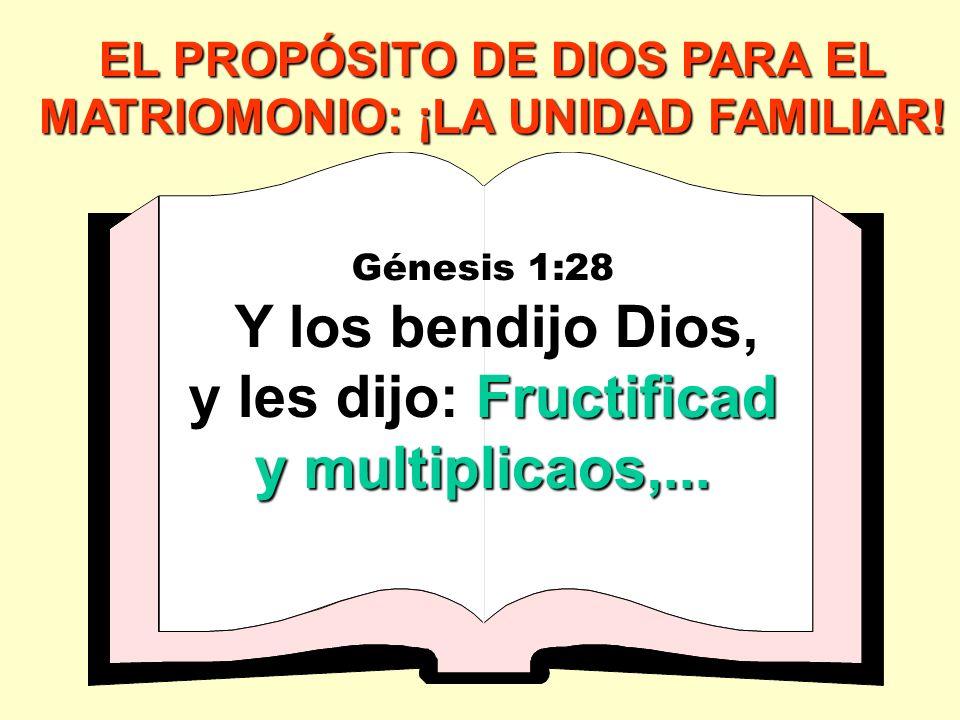 EL PROPÓSITO DE DIOS PARA EL MATRIOMONIO: ¡LA UNIDAD FAMILIAR.
