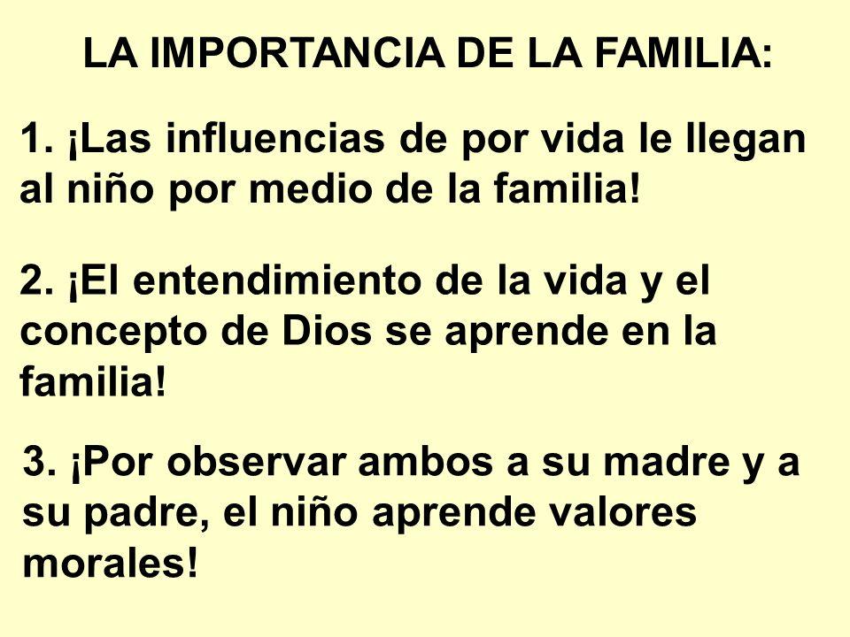 LA IMPORTANCIA DE LA FAMILIA: 1.