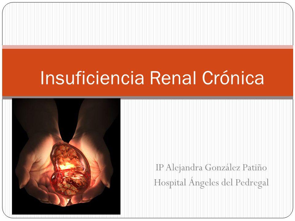 IP Alejandra González Patiño Hospital Ángeles del Pedregal Insuficiencia Renal Crónica